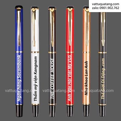 Phôi bút bi kim loại có nắp – màu trắng