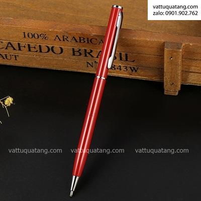 Phôi bút kim loại xoay màu đỏ