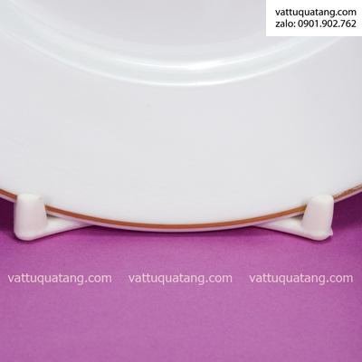 Phôi dĩa sứ tròn jasmine viền vàng 28cm