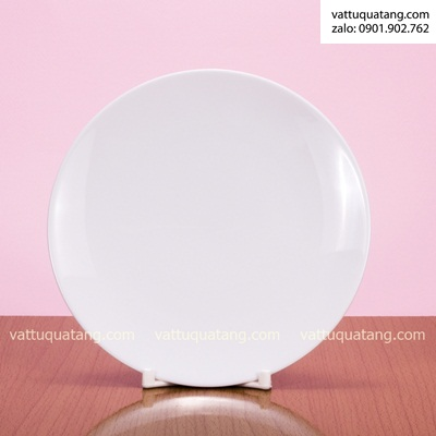 Phôi dĩa sứ tròn ảo – size 13cm – in chuyển nhiệt