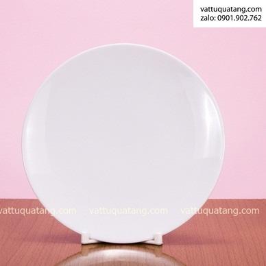 Phôi dĩa sứ tròn ảo – size 18cm – in chuyển nhiệt