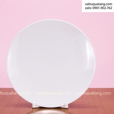 Phôi dĩa sứ tròn ảo – size 22cm – in chuyển nhiệt