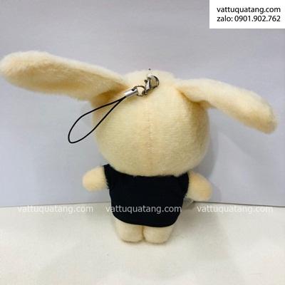 Phôi gấu bông in hình 3D lên thỏ chú rể cỡ nhỏ 15cm