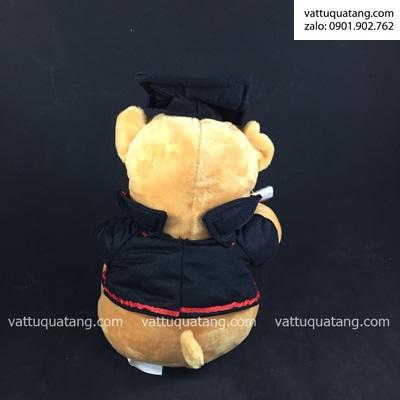 Phôi gấu tốt nghiệp 23cm, in lên huy hiệu 5.8cm
