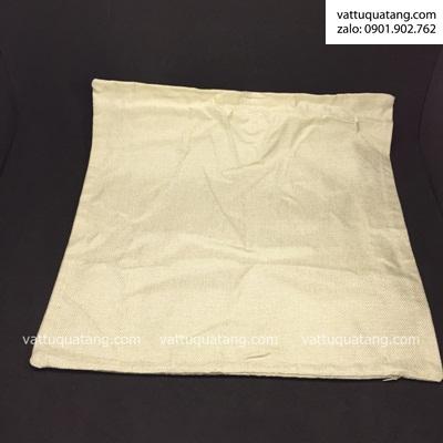 Phôi vỏ gối vải bố nâu đậm 45x45cm – in chuyển nhiệt