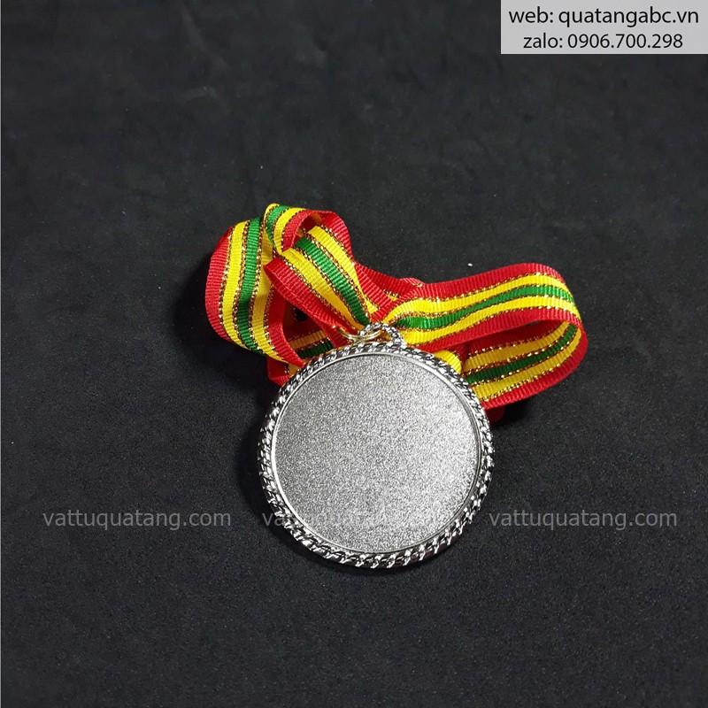 Phôi huy chương trơn viền màu bạc