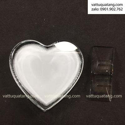 Phôi kỷ niệm chương pha lê trái tim- in chuyển nhiệt